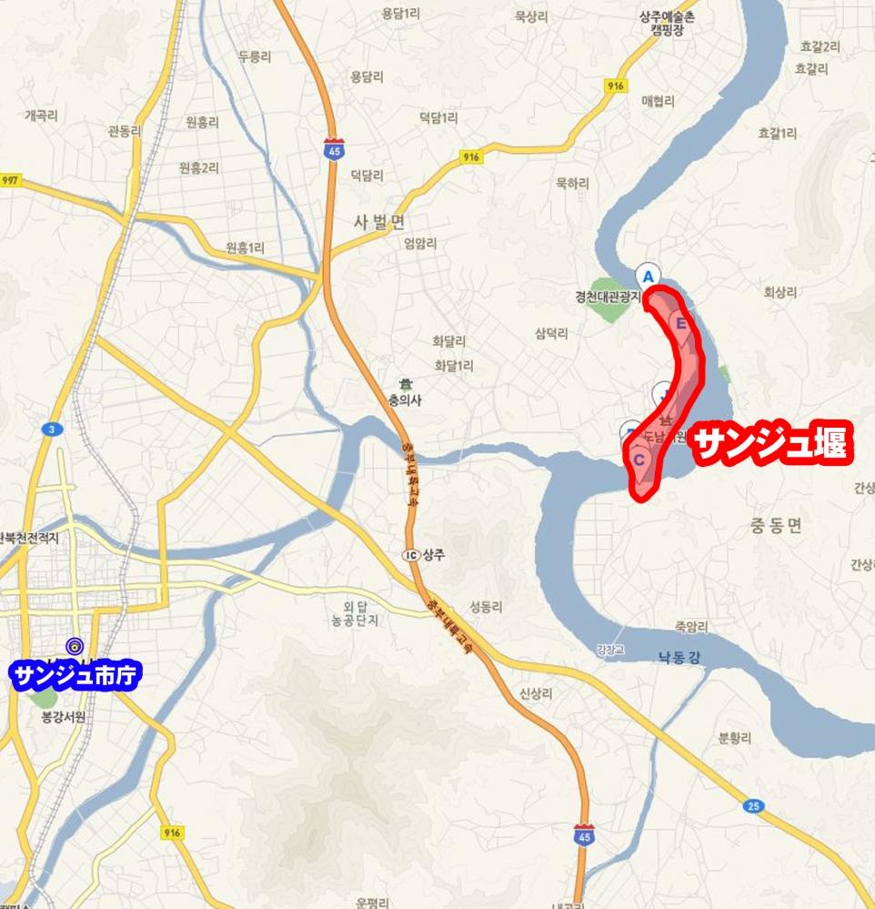 0614 サンジュ-地図 サンジュ堰