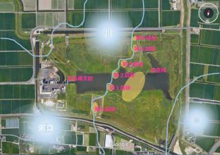 東名遺跡貝塚分布図