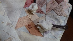 風車のパターンの巾着