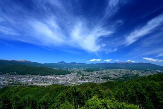 01-諏訪盆地と八ヶ岳を彩る雲