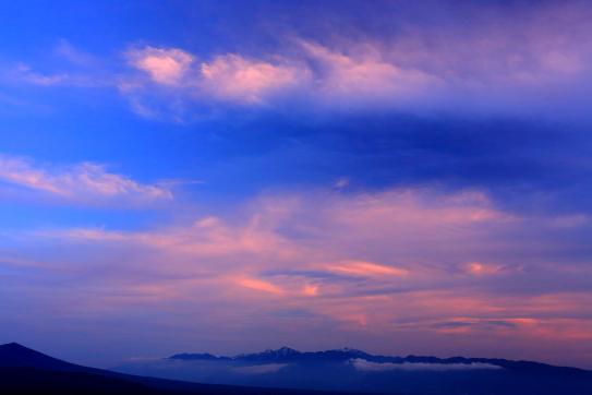 46-南アルプスと夕焼け雲