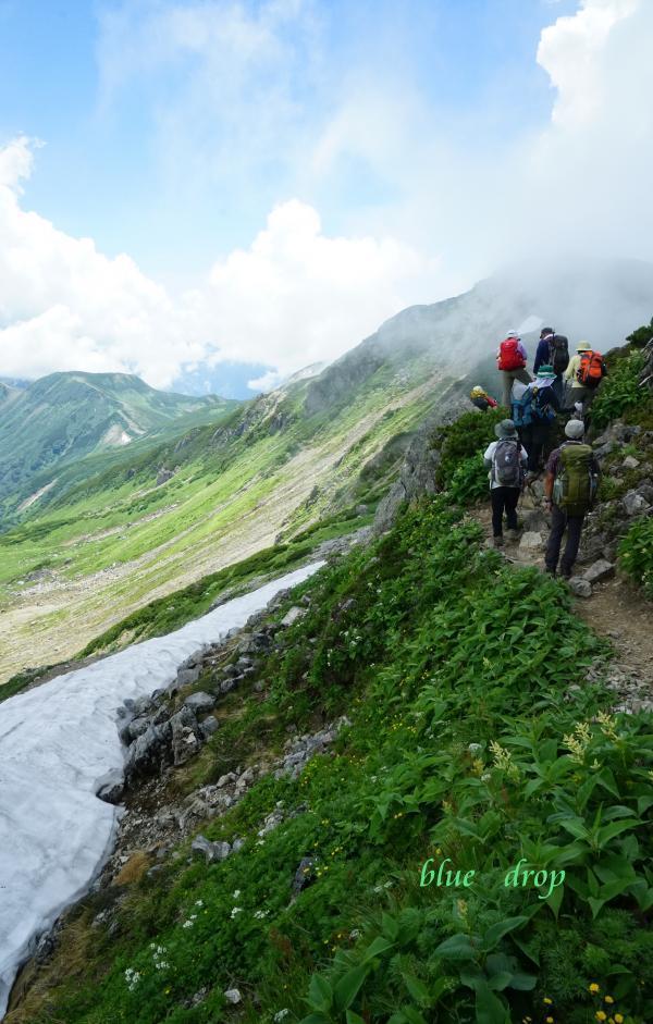 雪渓の稜線*