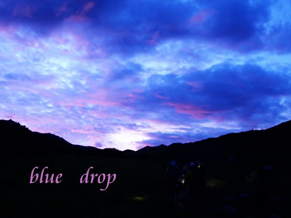 山の夜明け*