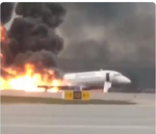 1炎に包まれたアエロフロートはモスクワに緊急着陸 支社40人以上か?