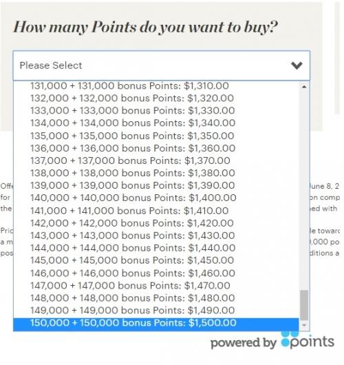 1IHGリワードクラブで100のボーナスポイントがもらえるポイント購入キャンペーン フラッシュセールです。1