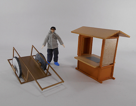 リヤカーと屋台1
