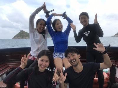タオ島 ダイビング 集合写真 アドバンス