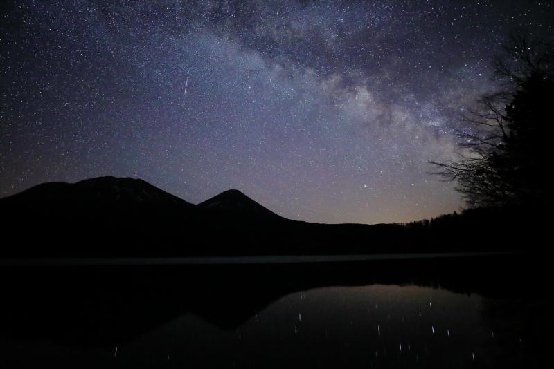 7748 天の川と流れ星