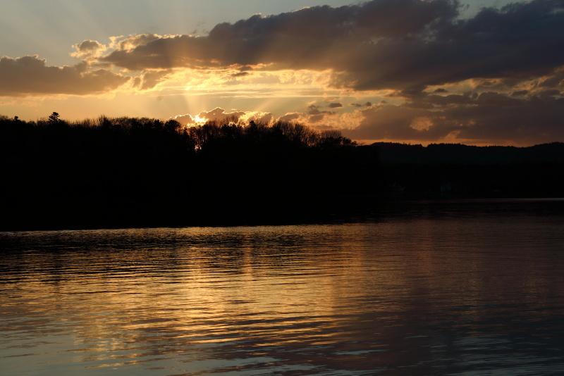 0939 阿寒湖の夕景