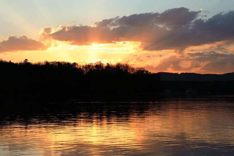 0950 阿寒湖の夕景