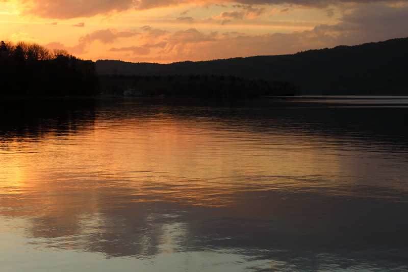 0973阿寒湖の夕景