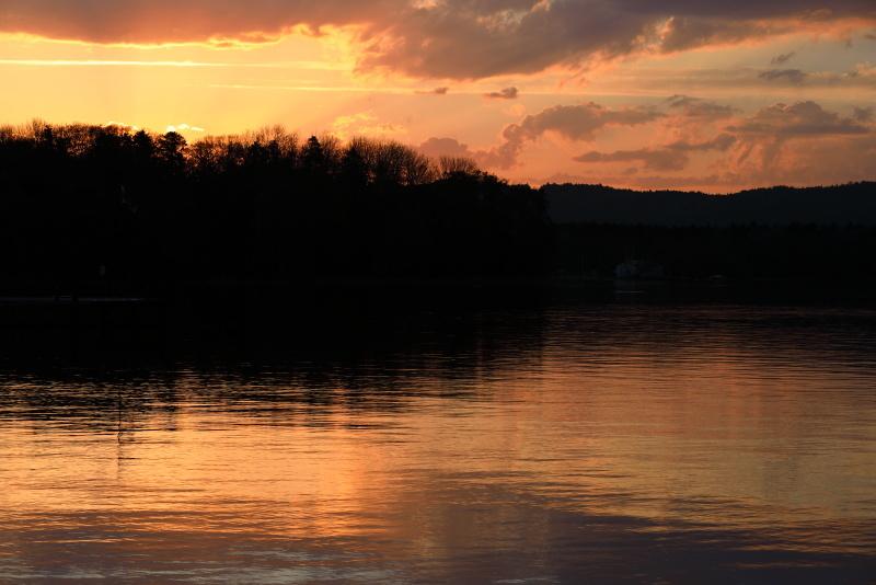 0976 阿寒湖の夕景