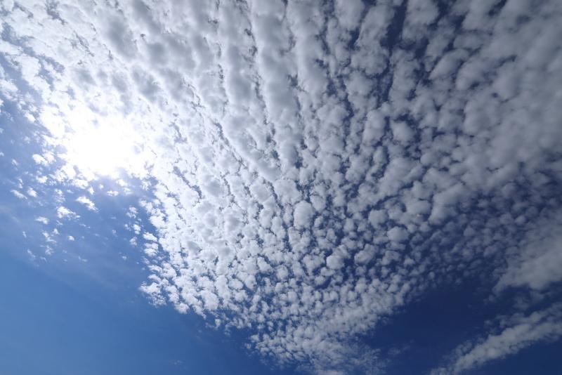 3457 東の空のうろこ雲