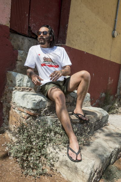 SOFTMACHINE CHILLIN'-T BIVOUAC SHORTS FRANCISCO GLASS CARVES SANDAL