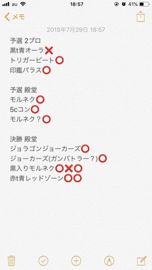 第75回ブルーホースCS (混合フォーマット) 優勝 赤青覇道 戦績