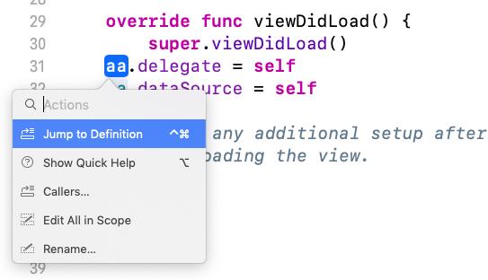 Swiftでは変数名をCommandを押しながらクリックすれば変えられる