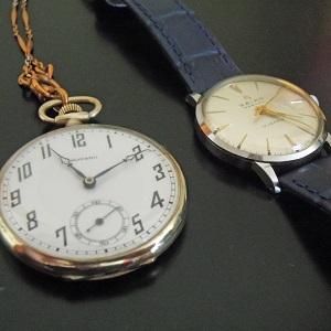 祖父の形見の懐中時計と