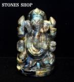 ラブラドライト ガネーシャ神像1