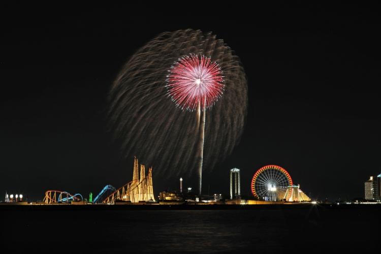 2019-8-4長島花火・単発0S8A9935