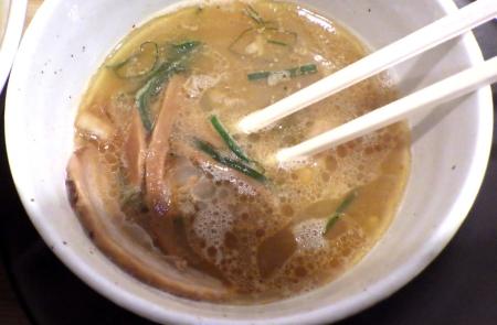 麺や清流 サンマ水つけ麺(つけ汁)