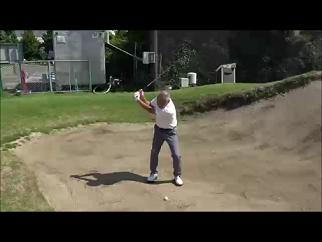 右手のゴルフ、バンンカーショットの基本