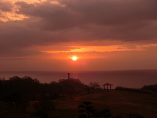 初山別夕陽