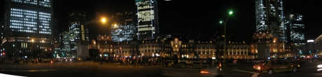 東京駅ライトアップ2 74