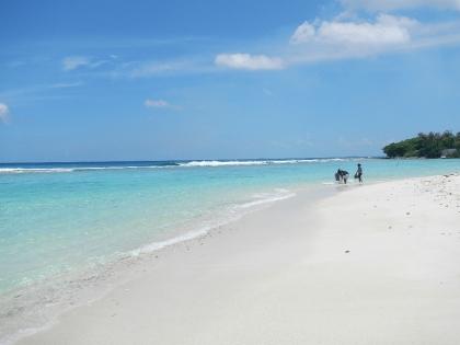 青い空と白い砂浜
