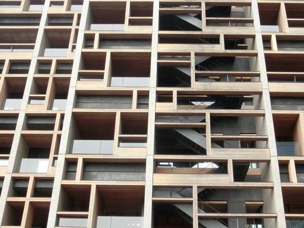 木材がたっぷり使われた「木材会館」は絶景だと思う!