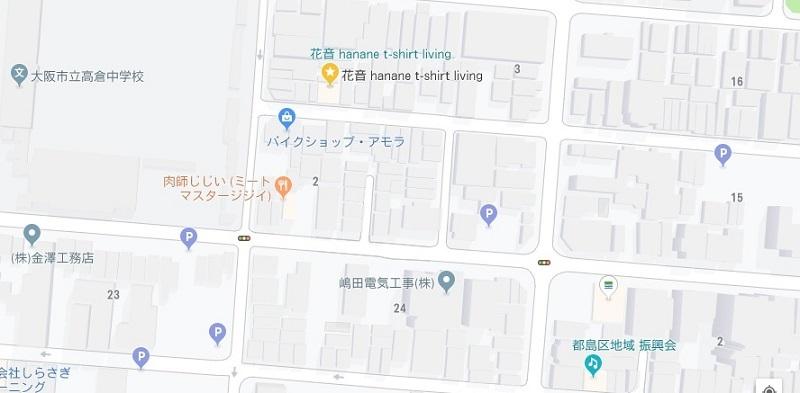 花音 都島店パーキング