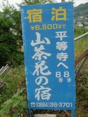 4山茶花の看板