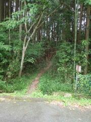 6山道への入り口