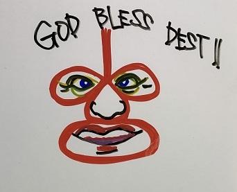 GOD BLESS DEST