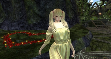 {sallie} Cotton Shirring Dress (maitreya exp) - yellow