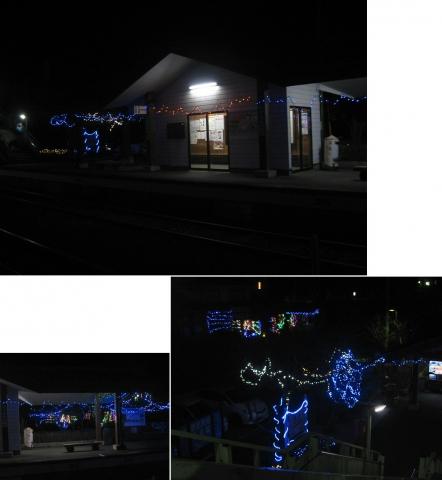 15水沼駅~沢入駅のイルミ201601(連結その13)