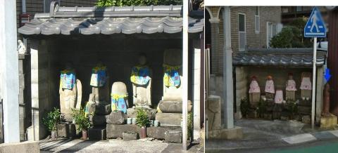 02東伊豆町稲取の地蔵立像(銀行前)+地上式消火栓