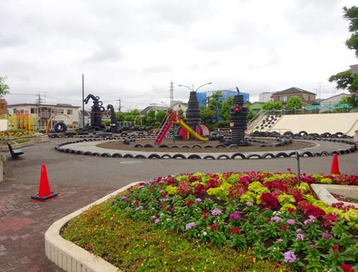 東京都大田区西六郷 タイヤ公園(西六郷公園)