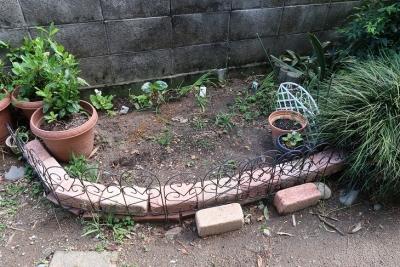 庭のフェンス設置