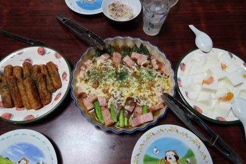 北海道アスパラとベーコンのチーズ焼き