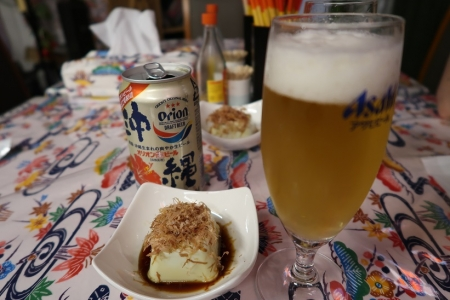 枝豆豆腐とオリオンビール
