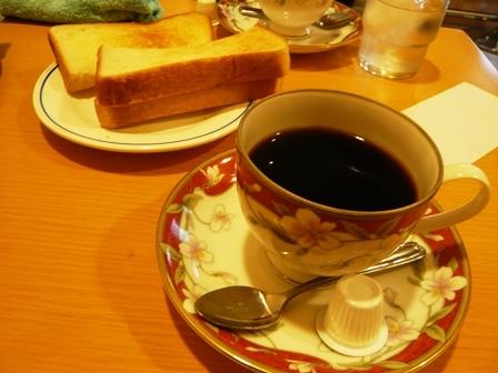 楡:ホットコーヒー・モーニング1