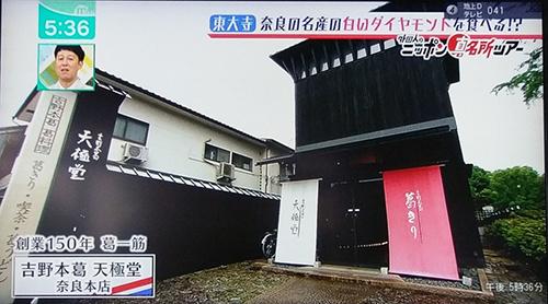 天極堂奈良本店葛きり葛とじごはんミント2019070506