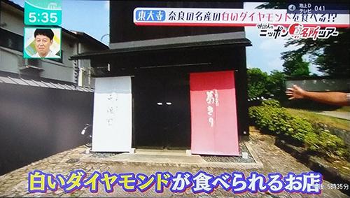 天極堂奈良本店葛きり葛とじごはんミント2019070501