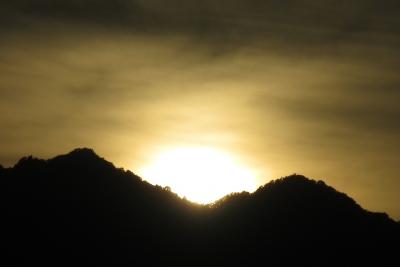 秦野の夕陽かな