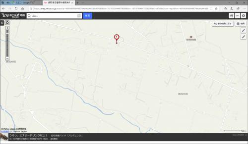 安曇野市穂高有明のとある別荘地 (Yahoo!地図 ゼンリン)