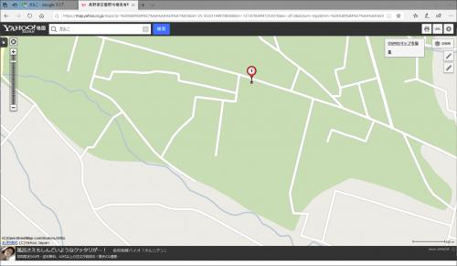 安曇野市穂高有明のとある別荘地 (Yahoo!地図 OSM)