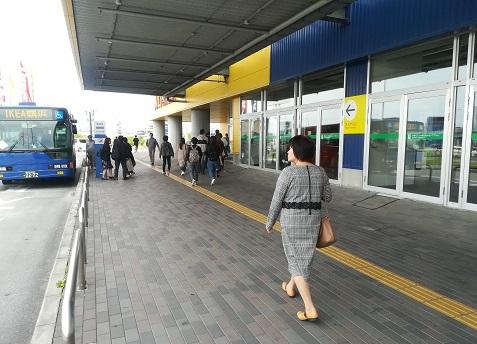 3 IKEA鶴浜へ到着