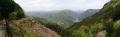 14 下山道から十津川温泉付近を眺める パノラマ