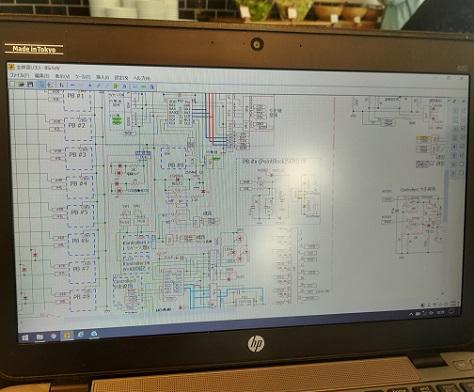 4 電車制御のハード図面の一部