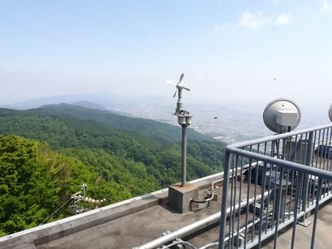 5 葛城山ロープウェイ頂上駅の展望台から